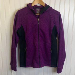 ZeroXposer purple and black zip up jacket